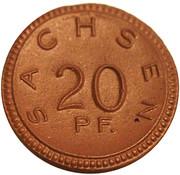 20 pfennig (Sachsen) – avers