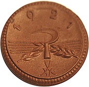 20 pfennig (Sachsen) – revers