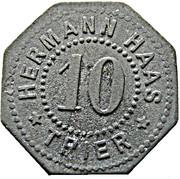 10 Pfennig (Trier) [Private, Hermann Haas] – avers