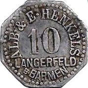10 Pfennig (Langerfeld) – avers