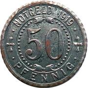 50 Pfennig (Gelsenkirchen/Rotthausen) [Stadt, Westfalen/Gemeinde, Rheinland] – revers