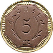 5 Mark (Sachsen) [Freistaat] – avers