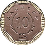 10 Mark (Sachsen) [Freistaat] – avers