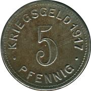 5 Pfennig (Elberfeld) [Stadt, Rheinprovinz] – revers