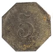 5 Pfennig (Ahrweiler) [Private, Rheinprovinz, N.Mies] – revers