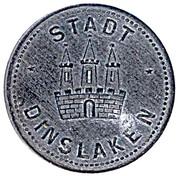 50 Pfennig Dinslaken – avers