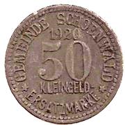 50 Pfennig (Schönwald) [Gemeinde, Bayern] – avers
