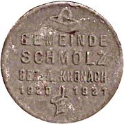 50 Pfennig Schmölz [Gemeinde, Bayern] – avers