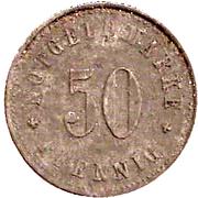 50 Pfennig Schmölz [Gemeinde, Bayern] – revers
