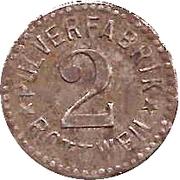 2 Pfennig (Rottweil) [Private, Pulverfabrik] – avers