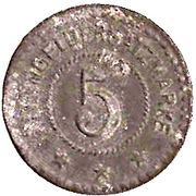 5 Pfennig (Rosenberg) [Private, Württemberg, Anrd. Pemsel] – revers