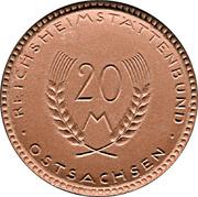 20 Mark (Ostsachsen) [Distrikt, Sachsen] – avers