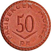 Freiberg 50 Pfennig Notgeld – avers