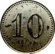 10 Pfennig (Bad Colberg) [Offizier - Gefangenen Lager, Sachsen-Meiningen] – revers