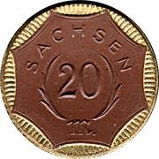 20 Mark (Sachsen) [Freistaat] – avers
