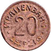 20 Pfennig (Leipzig) [Strassenbahn, Saxony] – avers