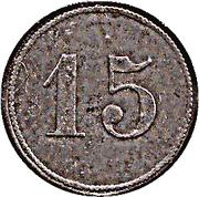 15 Pfennig (Chemnitz) – revers