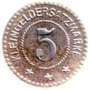 5 Pfennig Saalfeld an der Saale – revers