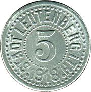 5 Pfennig (Leutenberg in Thüringen) [Stadt, Schwartzburg-Rudolstadt] – avers