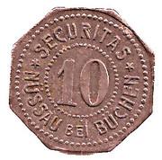 10 Pfennig (Nüssau) [Private, Schleswig-Holstein, Securitas] – avers