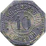 10 Pfennig (Eisenach) – avers