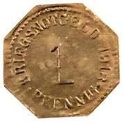 1 Pfennig (Apolda) [Stadt, Sachsen-Weimar-Eisenach] – revers