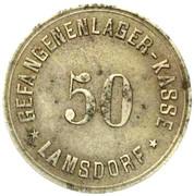 Schlesien Lamsdorf Gefangenenlager -- POW Camp 50 Pfennig – avers