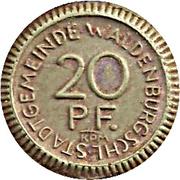 20 Pfennig (Waldenburg in Schlesien) [Stadt, Schlesien] – avers