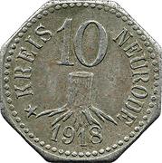 10 Pfennig (Neurode) – avers