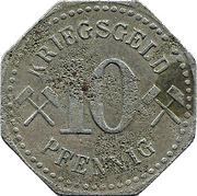 10 Pfennig (Neurode) – revers