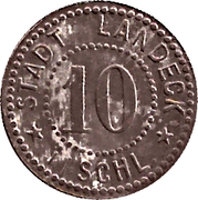 10 Pfennig (Landeck) – avers