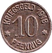 10 Pfennig (Ober-Glogau) – revers