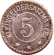 5 Pfennig Stadt Arnstadt (Schwarzburg-Sonderhausen) – revers