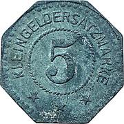 5 pfennig (Schelein) [Stadt Sagan] – revers