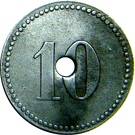 10 Pfennig (P.O.W. Camp Coinage Munster II) – revers