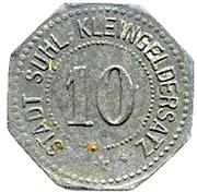 10 pfennig Suhl – avers