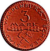 3 Mark (Waldenburg in Schlesien) [Stadt, Schlesien] – revers