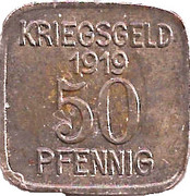 50 Pfennig (Grünberg) [Stadt, Schlesien] – revers