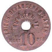 10 pfennig Kriegsgefangenenlager Münster II (Westfalen) – avers