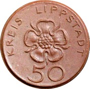 50 Pfennig [Kreis, Lippstadt] 1921 – revers