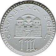 1 Mark (Grünberg) [Stadt, Schlesien] – avers