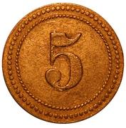 5 Pfennig P.O.W. Camp Coinage - Munster 1 – revers