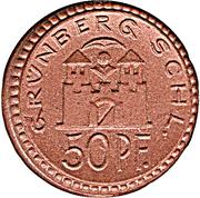 50 Pfennig ( Grunberg ) Notgeld – avers