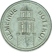 50 Pfennig (Bottrop) [Gemeinde, Westfalen] – avers