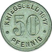 50 Pfennig (Bottrop) [Gemeinde, Westfalen] – revers