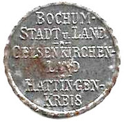 25 pfennig (Bochum, Gelsenkirchen, Hattingen) – avers