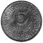 5 Pfennig (Göppingen) – avers