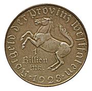 1 billion de mark (Westfalen; Freiherr vom Stein) – avers