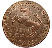 5 millions de marks (Westfalen; Freiherr vom Stein) – avers