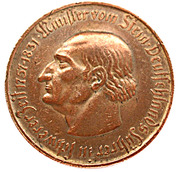 5 millions de marks (Westfalen; Freiherr vom Stein) – revers